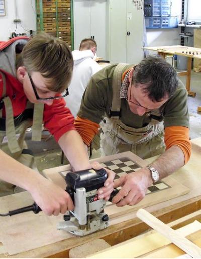 außerbetriebliche Berufsausbildung im Bereich Holzbearbeitung